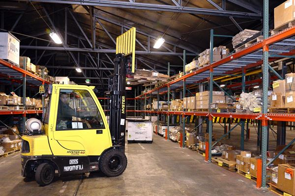 moving of inventory with forklift